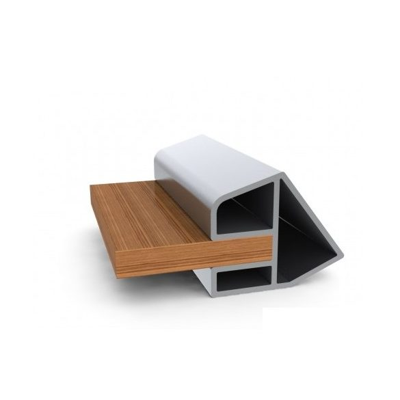 Oldal merevítős fa padló KM-300D világos szürke