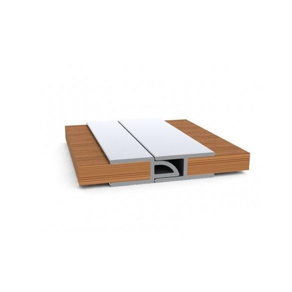 Oldal merevítős fa padló KM-330D világos szürke