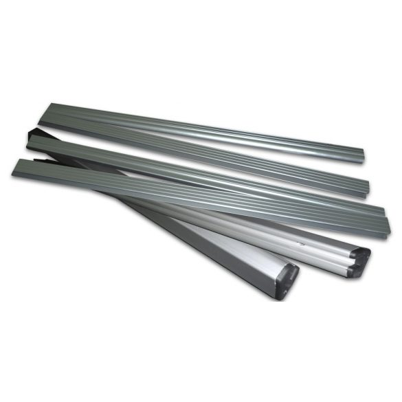 Alumínium profil szett rétegelt lemez fa padlóhoz KM-330D  (profil és csatlakozó elemek)