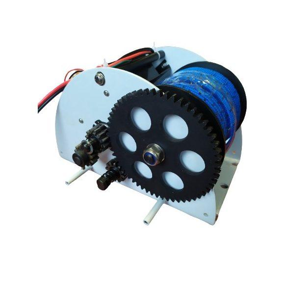 Elektromos horgonycsörlő, 12 V távirányítóval ledvilágítással