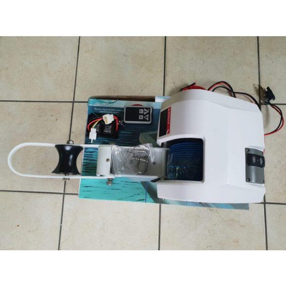 Elektromos horgonycsörlő, 12 V távirányítóval