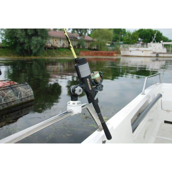 Csőre szerelhető csatlakozó Ø 22, 25 mm + Horgászbot tartó HTr213