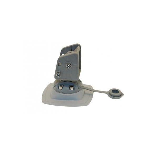 Horgony rögzítő csavarral + Ragasztható csatlakozó talp felfújható csónakra 110x110 mm ALp002