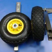Felfújható por festett szállító kerék