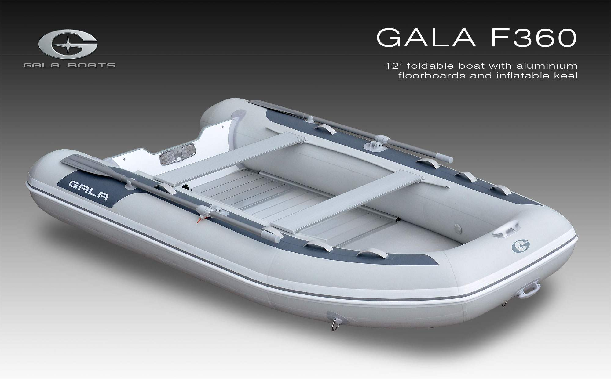 Gala F-360 felfújható hajó