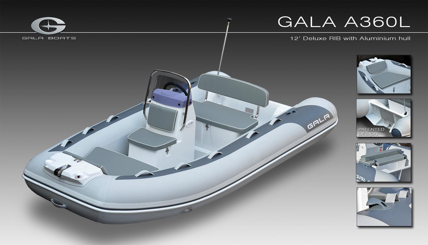 Gala A-360-L RIB felfújható hajó