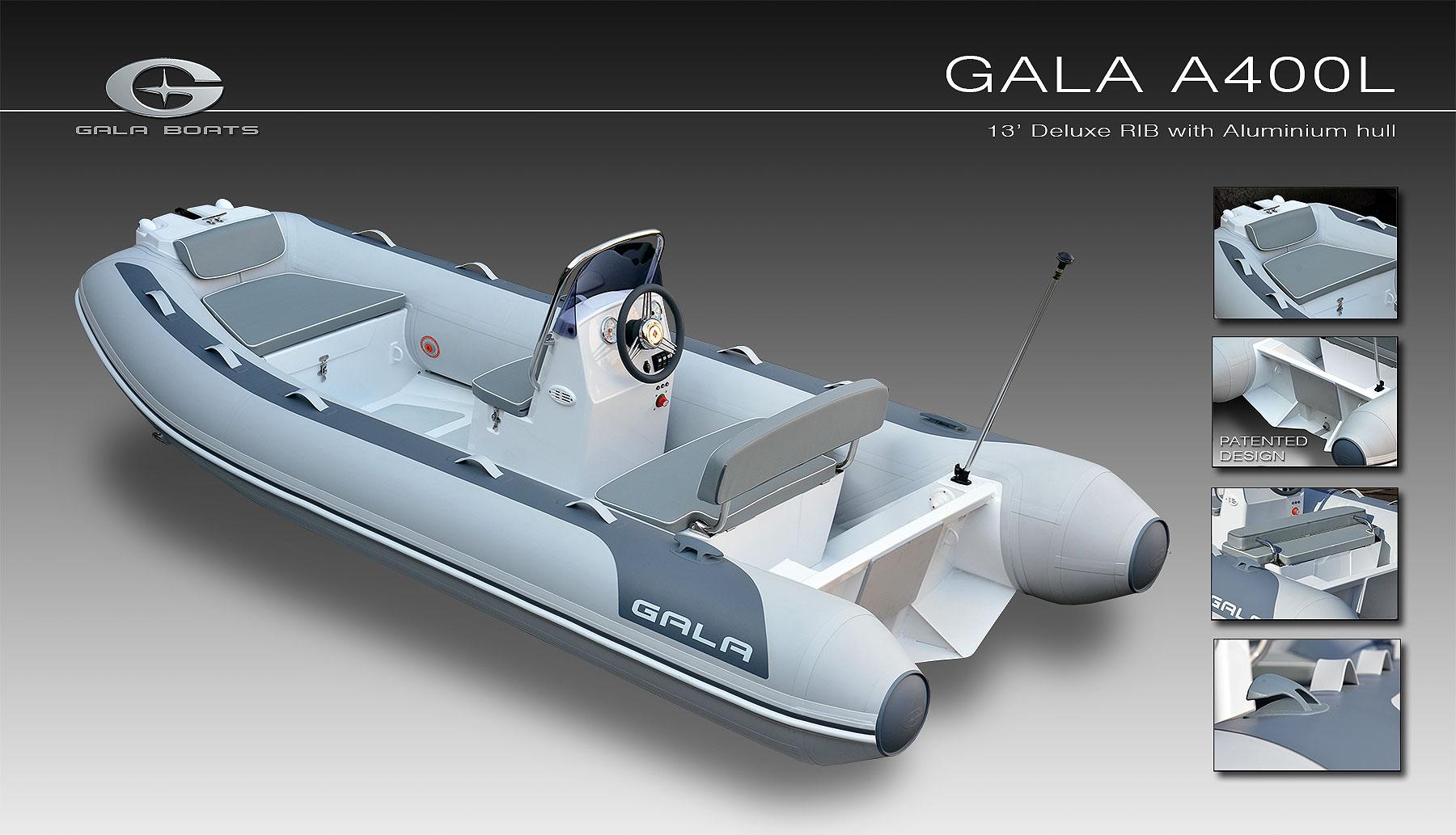 Gala A-400-L RIB felfújható hajó