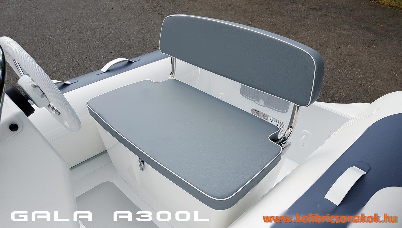 S-01 összecsukható dupla ülés és tároló