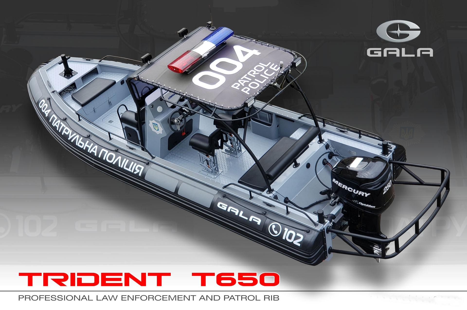 Gala T650 RIB felfújható hajó