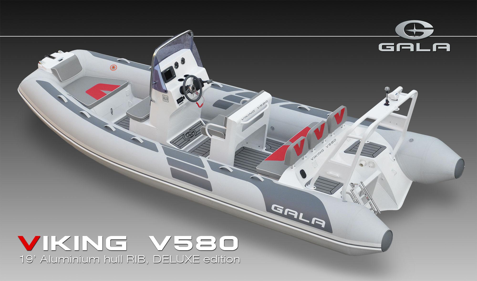Gala V-580 RIB felfújható hajó